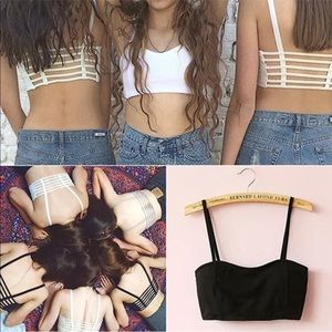 Other - Sexy bralette w caged back in black or white